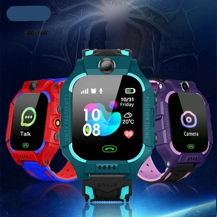Q19 Kid Smart Watch, LBS Position Location SOS Kameratelefon Smart Baby Watch, Voice Chat Smartwatch Mobile Watch