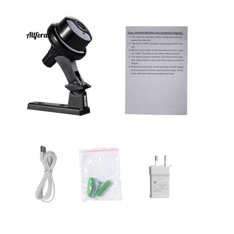 Q6 2.0Mp Button Mini Camera Support Wifi Two-Way Ενσωματωμένη κάρτα Tf Slot Night Vision Home