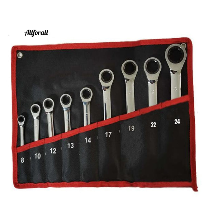 Ratchet Combination Wrench Set, Chrome Vanadium Steel Wrench Tools Set