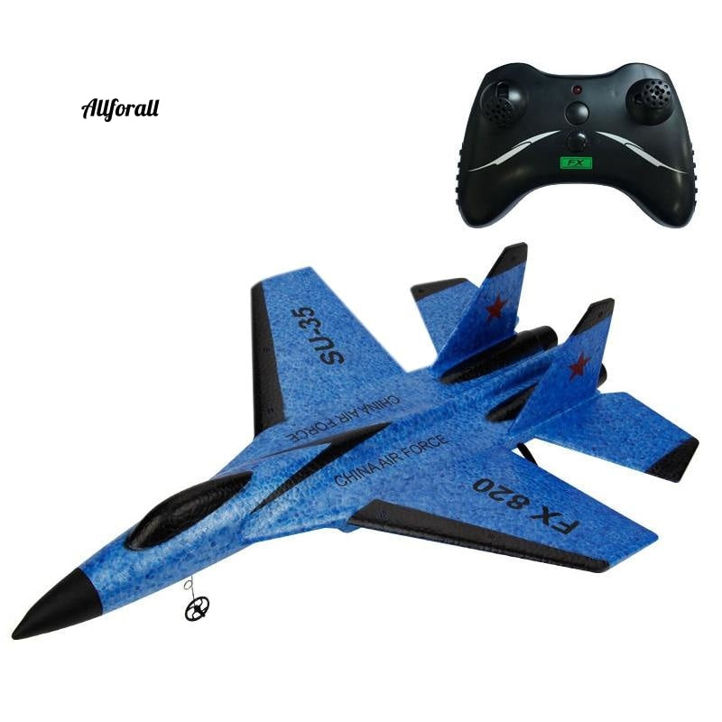 RC Plane Legetøj, Epp Craft Foam Electric Outdoor Rtf, Radio Fjernbetjening Su-35 Tail Pusher Quadcopter Glider Fly
