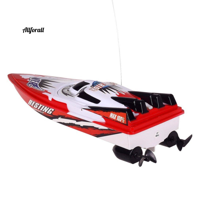 RC Racing Boat, Radio Remote Control Dual Motor Boat, High-speed Strong Power System Fluid Type Design Legetøj