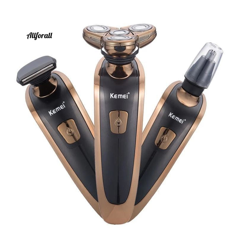 Rechargeable Electric Shaver Beard Razor, 4 Blades Men Floating Shaving Machine
