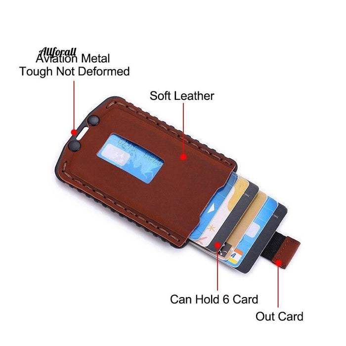 Rfid Slim Men Card Holder Wallet Money Bag Small Thin Pocket Leather Mini Purse Wallets