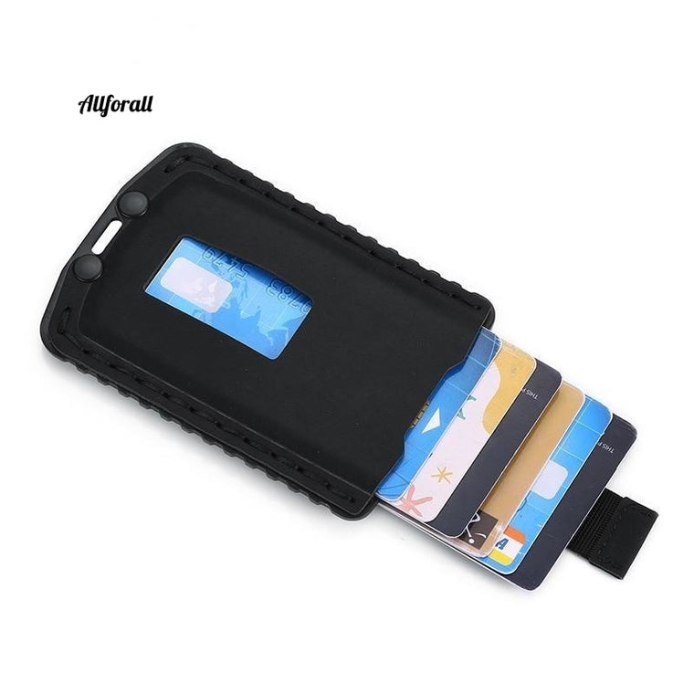 Rfid Slim Men Card Holder Wallet, Money Bag Small Thin Pocket Wallet, Leather Mini Purse