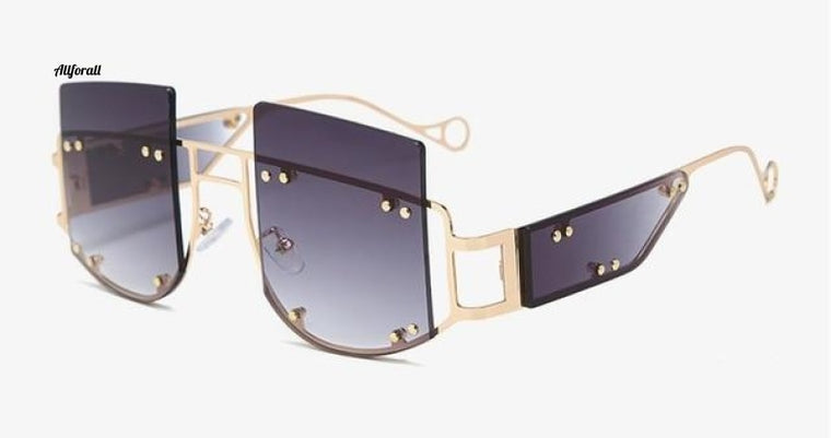 Rivet Personality Sunglasses, Men & Women Fashion Glasses