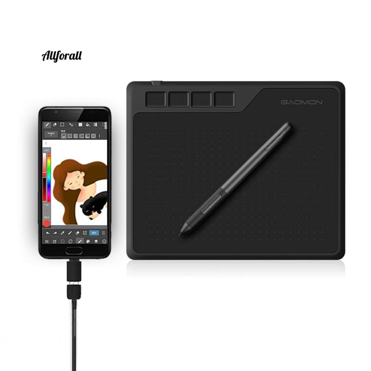 S620 6.5 x 4 Inches 8192 Level Battery-free Pen, Support Android Windows, Mac Digital Graphic Tablet for Drawing & Game, OSU