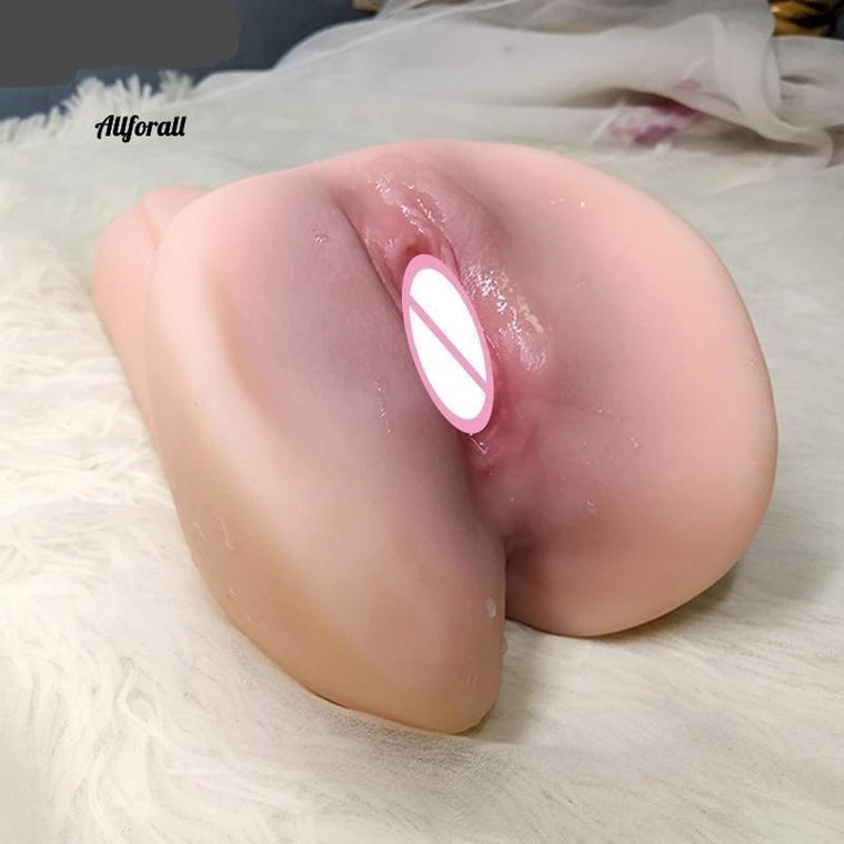 Silicone Artificial Vagina Sex Product For Men, Double Hole Realistic Vagina & Anal