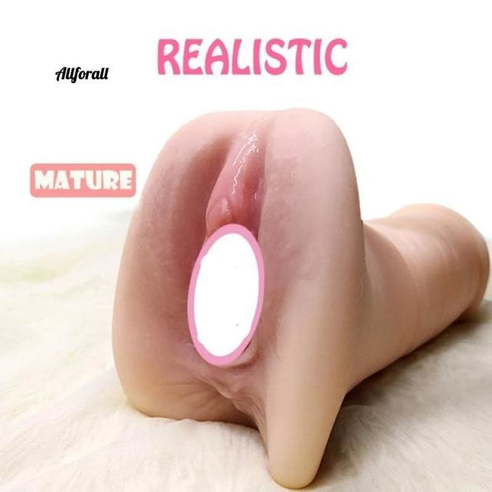 Silicone Artificial Vagina Sex Product For Men, Double Hole Realistic Vagina & Anal Silicone Vagina 4 Men allforall mature
