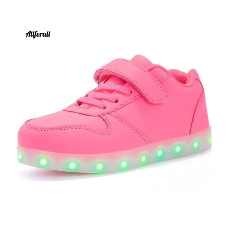 Size 25-37 USB Charging Children Boys & Girls Shoes, Infant Led Light Glowing Luminous Sneakers