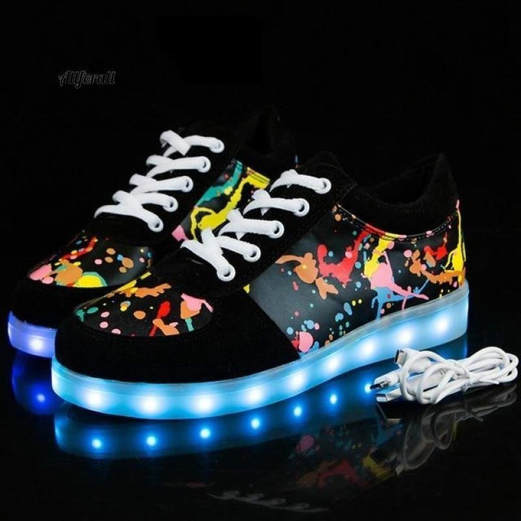 Size 27-41 Children Glowing Sneakers With Light, Luminous Sneakers for Boys & Girls