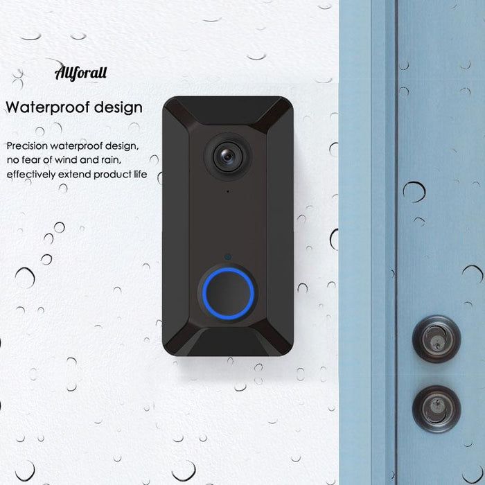 Smart WiFi Video Doorbell Camera, V6 Visual Intercom With Cloud Storage Night Vision, IP Door Bell Wireless Home Security Camera