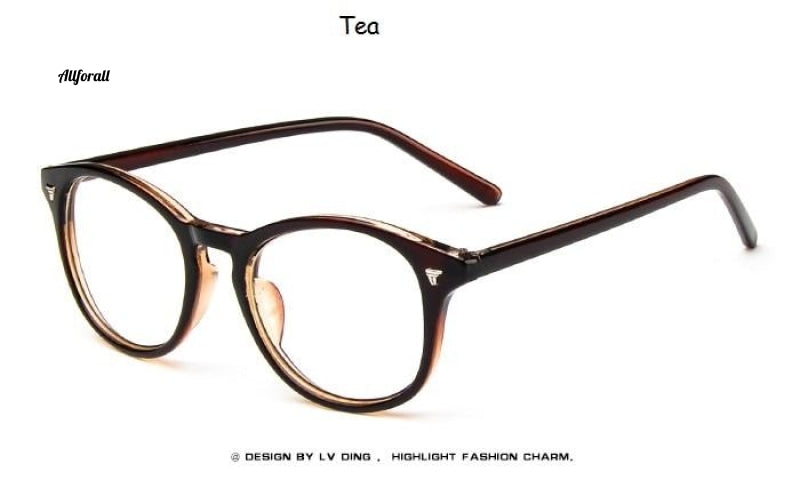 Spectacle Classic Round Eyeglasses, Brand Designer Fashion Nail Decoration Optical Reading Glasses