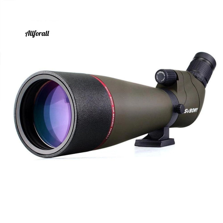 Spotting Scope Zoom, 20-60x80mm Reflector Telescope, 45-Degree Large Field of View, MC Lens High Definition Telescope