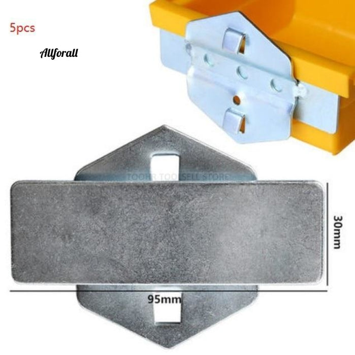 Steel Wall-Mounted Tool Parts, Storage Box Garage Unit Shelving Hardware Tool, Organize Box Hanging Board Components Tool Box