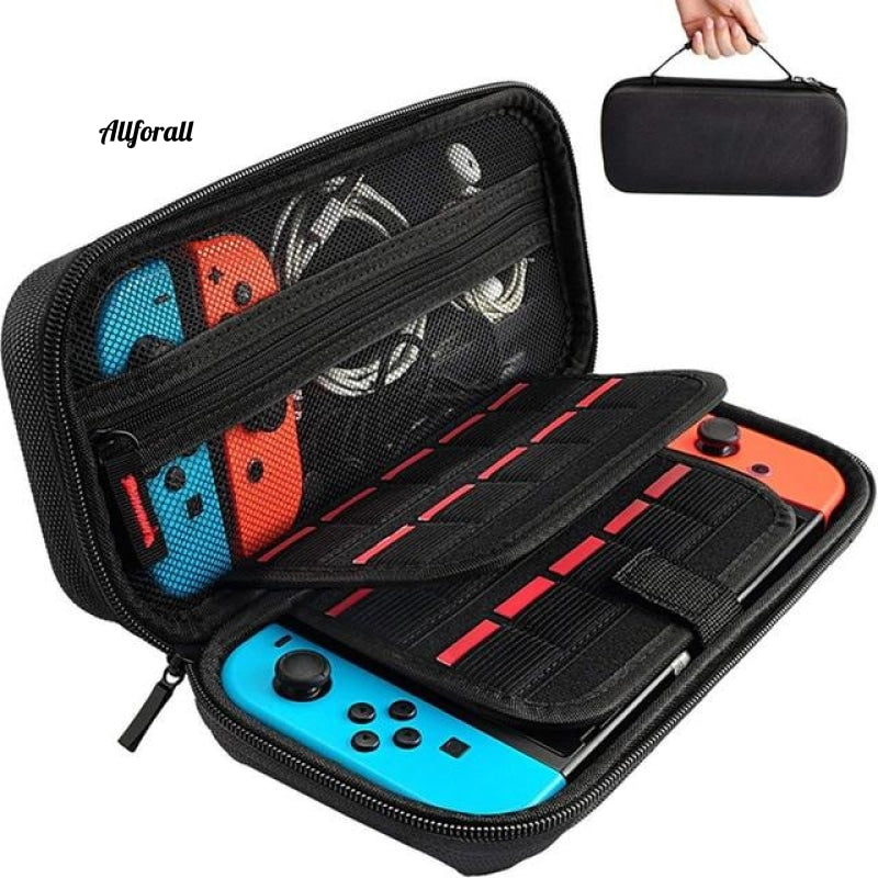 Storage Bag for Nintend Switch, Console Handheld Carrying Case, 19 Game Card Holders