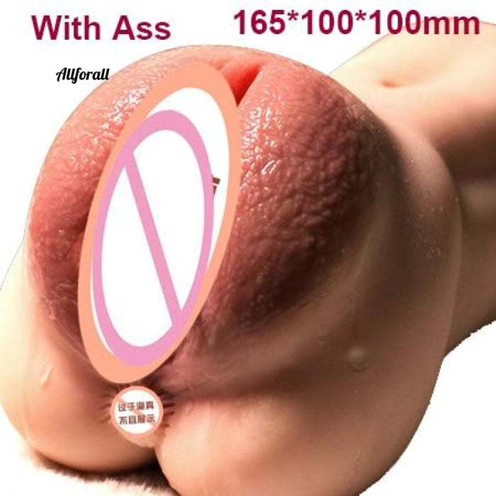 Super Realistic 3D Soft Maiden Vagina, Deep Pussy Ass Masturbation Sex Toy for Men, Vagina & Anal