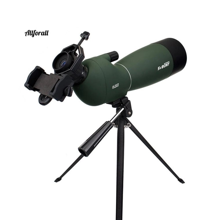 SV28 50/60 / 70mm teleskop, zoom spotting scope vandtæt monokulært w / universal telefon adapter adapter