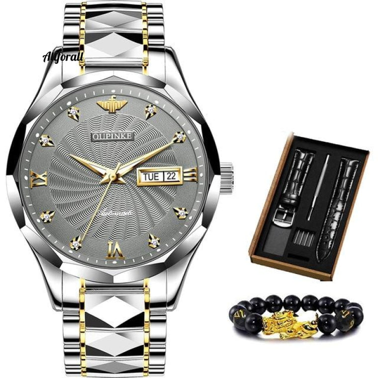 Swiss Brand Luxury Men Watches, Automatic Tungsten Steel Waterproof 5ATM Business Mechanical Jamwatch