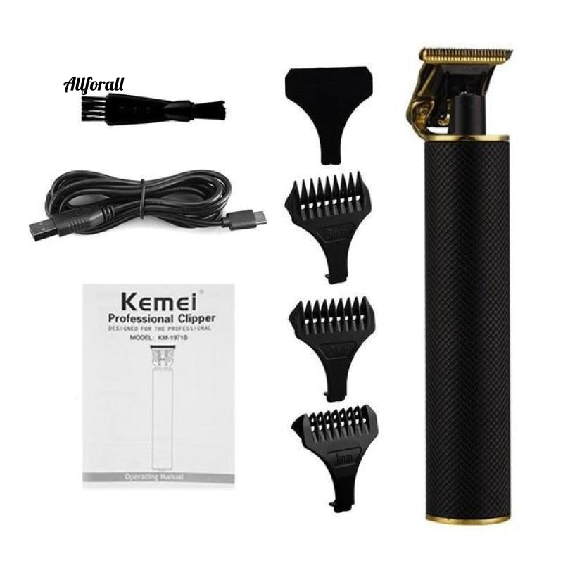 T-Outliner Professional Hair Clipper, Cordless Electric 0mm Bald Head Shaving Beard Trimmer, Finishing Hair Cutting Machine