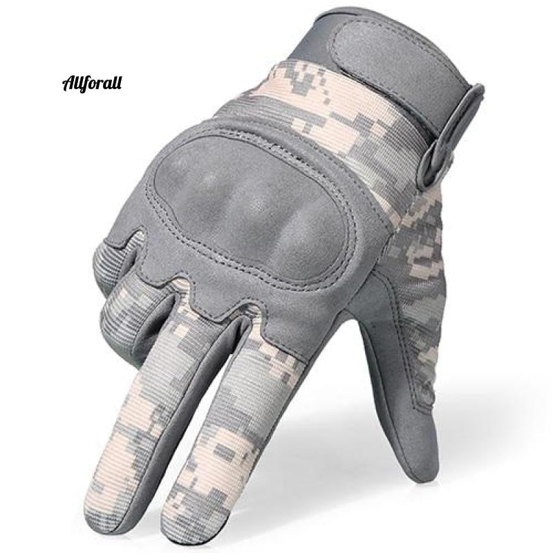 Tactical Military Army Gloves, ACU Camouflage Touch Screen Paintball Combat Hard Knuckle Bicycle Full Finger Gloves touchscreen glove allforall ACU Camouflage L
