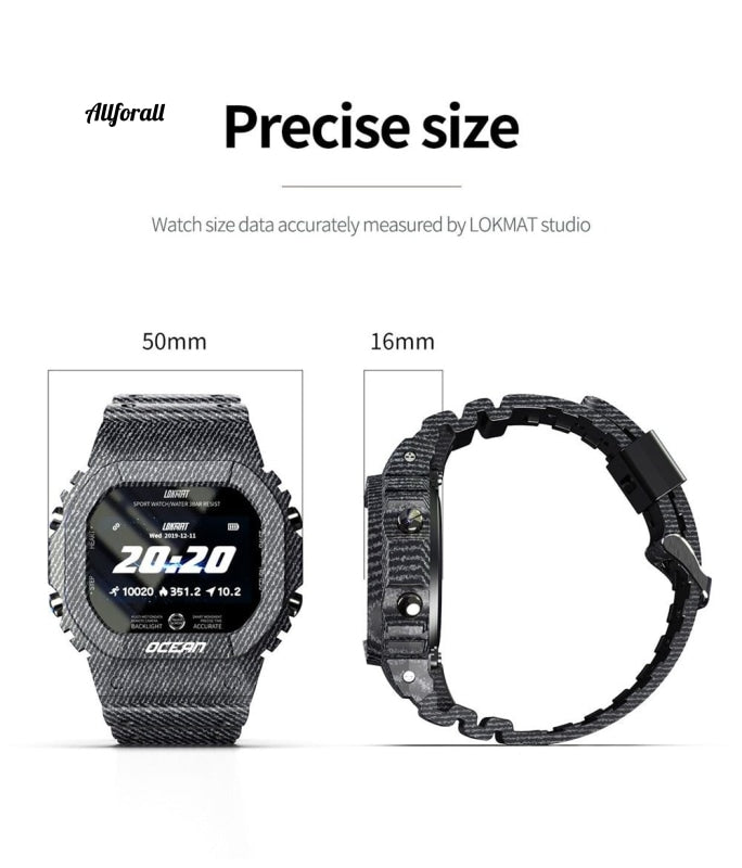Time Ocean Sports Smart Watch Ip68 Vandtæt Fitness Robust udendørs Smartwatch til telefon