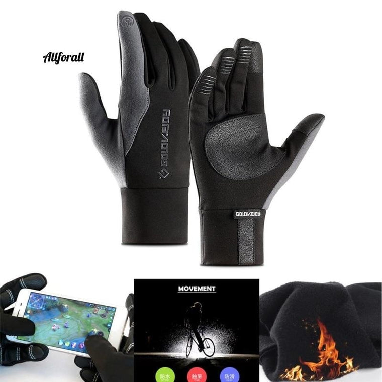 Touch Screen Sports Running Gloves, M/W Outdoor Warm Windproof Multi-function Gym Fitness Gloves for Jogging