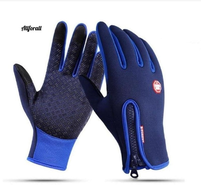 Touch Screen Windproof Outdoor Sport Gloves For M/W, Army Winter Wind Stopper Waterproof Gloves touchscreen glove allforall Blue S