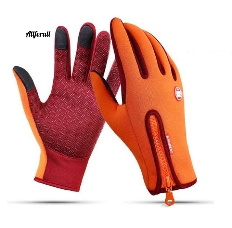 Touch Screen Windproof Outdoor Sport Gloves For M/W, Army Winter Wind Stopper Waterproof Gloves touchscreen glove allforall Orange S