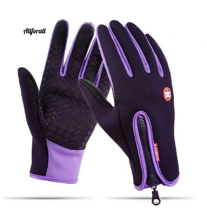 Touch Screen Windproof Outdoor Sport Gloves For M/W, Army Winter Wind Stopper Waterproof Gloves touchscreen glove allforall Plum S