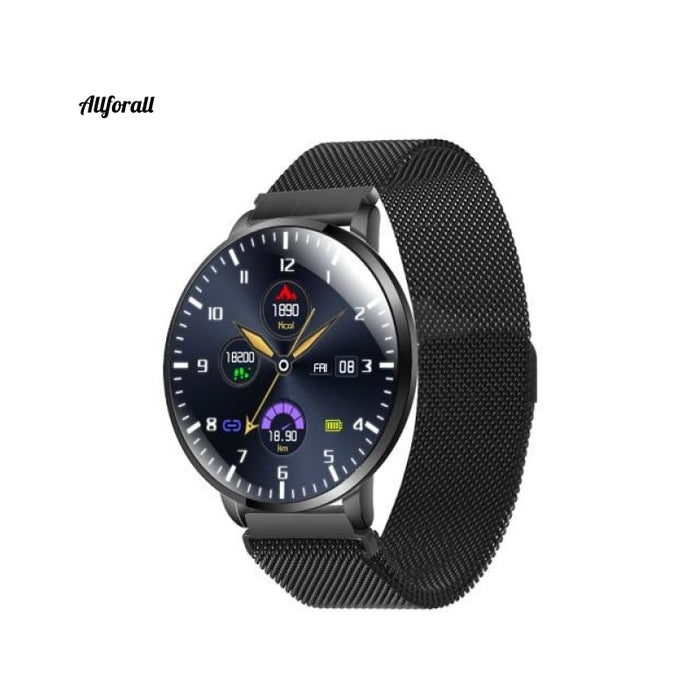 Ultrathin Full Screen Fitness Tracker With Heart Rate Monitor Ip68 Αδιάβροχο Smartwatch Black / Eu
