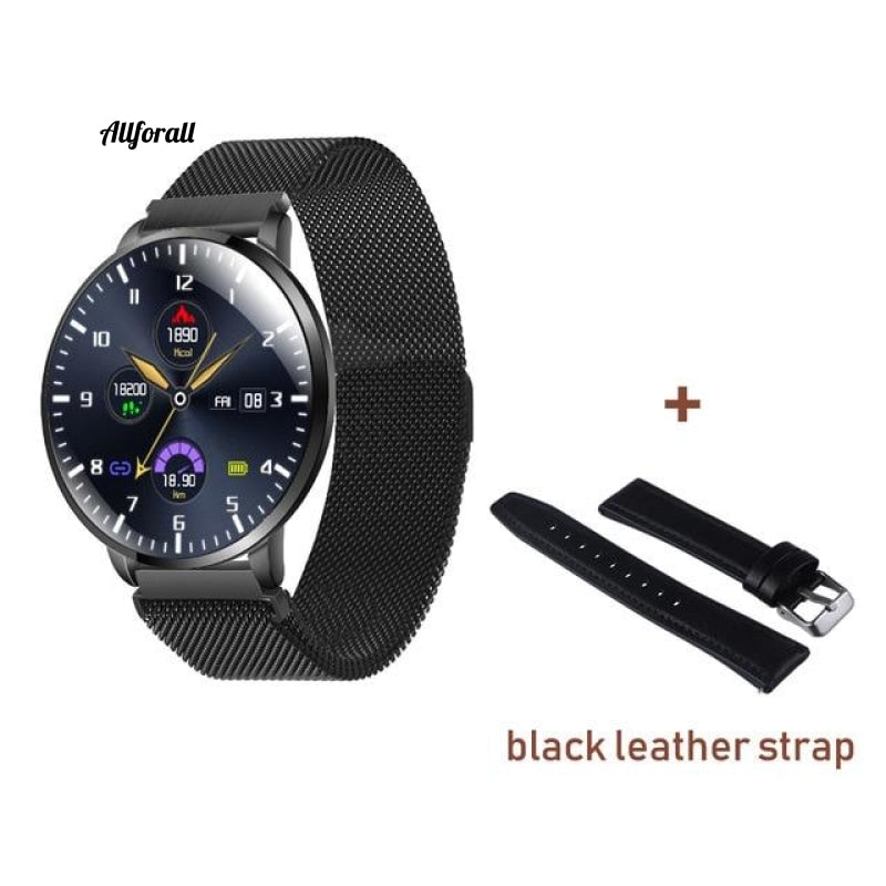 Ultrathin Full Screen Fitness Tracker With Heart Rate Monitor Ip68 Αδιάβροχο Smartwatch Black