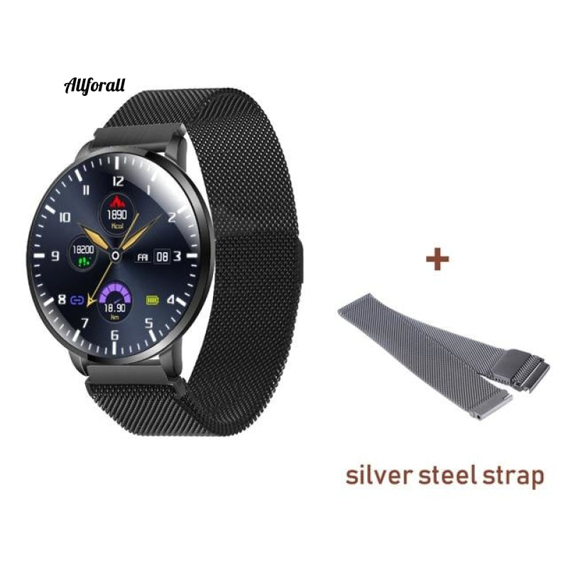 Ultrathin Full Screen Fitness Tracker With Heart Rate Monitor Ip68 Αδιάβροχο Smartwatch Silver