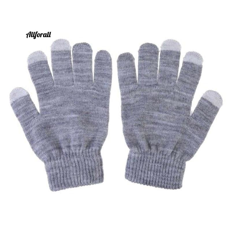 Unisex Winter Warm Capacitive Knit Gloves, Hand Warmer For Touch Screen Smart Phone Female Glove touchscreen glove allforall gray