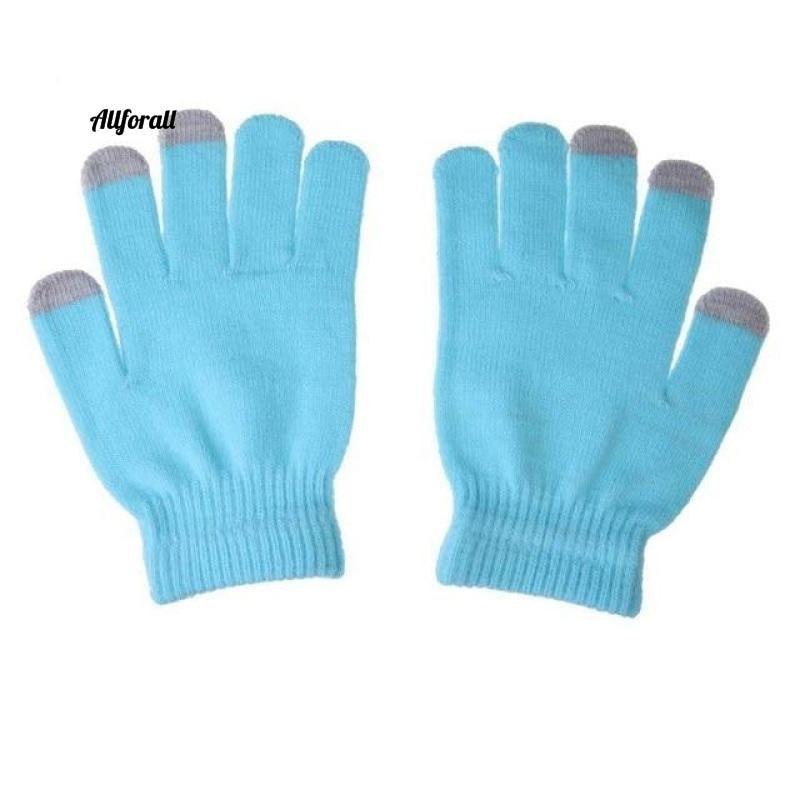 Unisex Winter Warm Capacitive Knit Gloves, Hand Warmer For Touch Screen Smart Phone Female Glove touchscreen glove allforall light blue