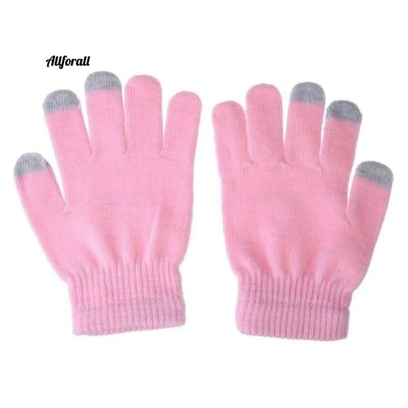 Unisex Winter Warm Capacitive Knit Gloves, Hand Warmer For Touch Screen Smart Phone Female Glove touchscreen glove allforall pink