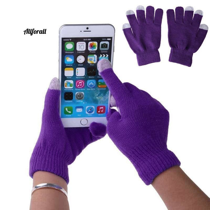 Unisex Winter Warm Capacitive Knit Gloves, Hand Warmer For Touch Screen Smart Phone Female Glove touchscreen glove allforall