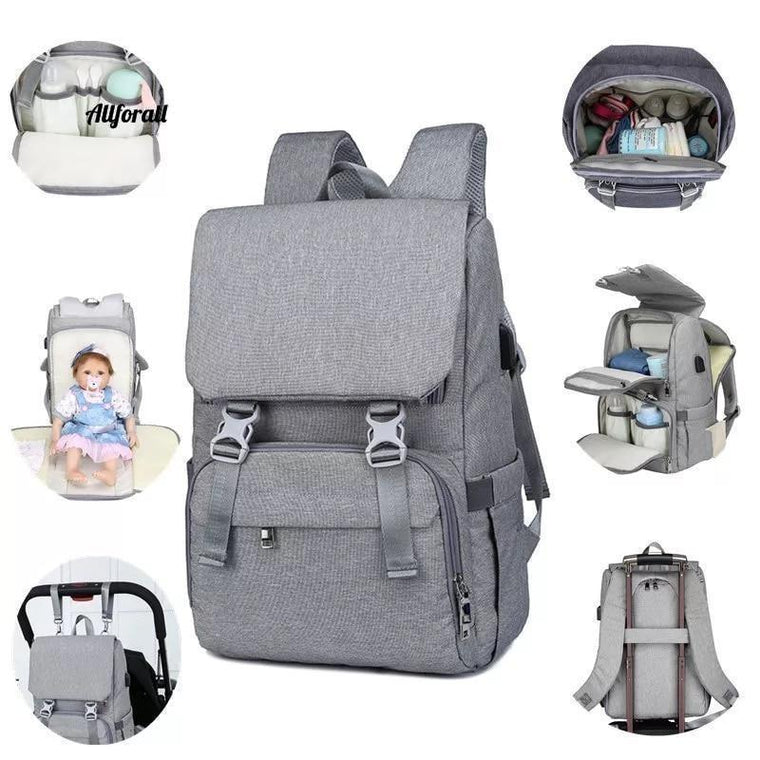 USB Interface Large Baby Nappy Changing Bag Mummy Maternity Travel Backpack