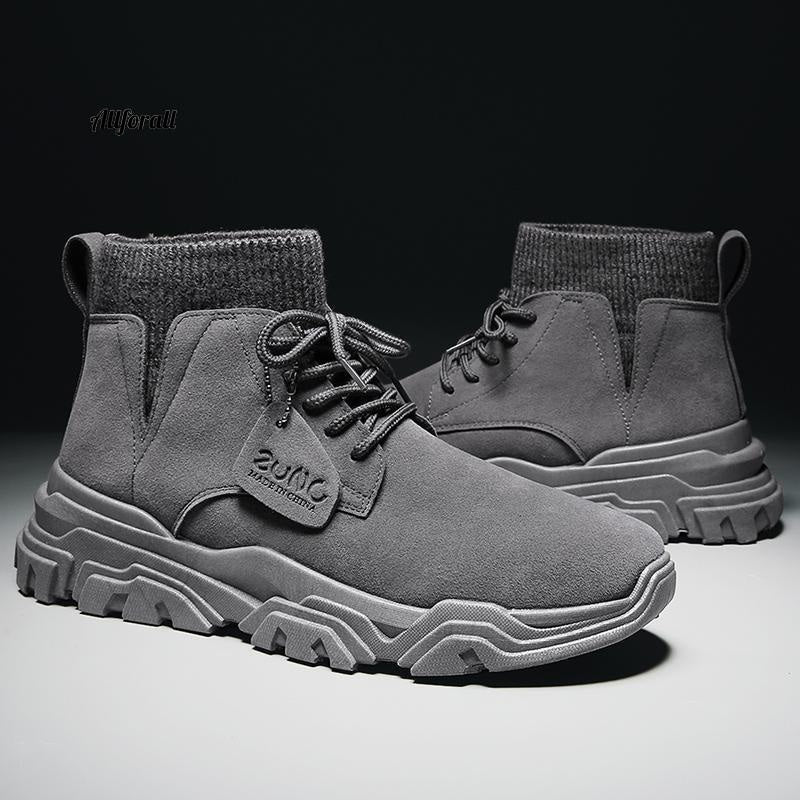 Vast Wave Warm Winter Men Boot, Genuine Leather Ankle Winter Work Shoes, Military Leather Men Snow Boot Men winter boot allforall