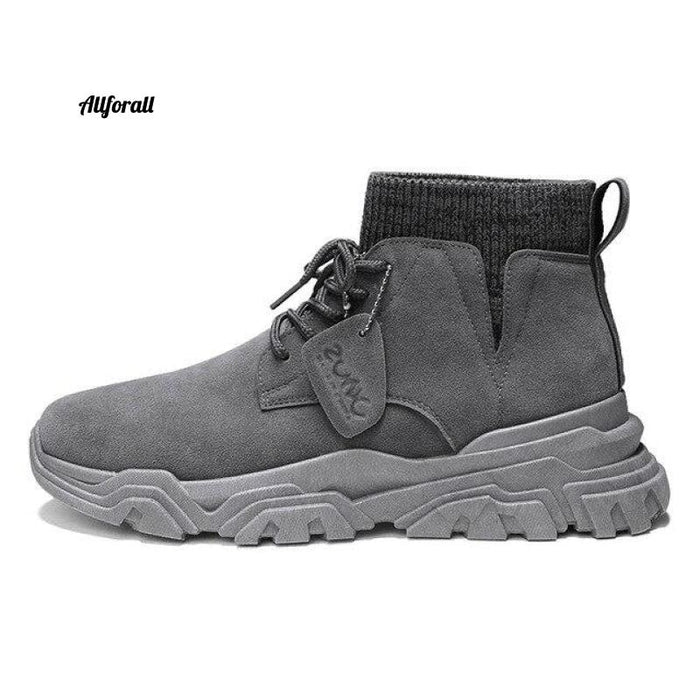 Vast Wave Warm Winter Men Boot, Genuine Leather Ankle Winter Work Shoes, Military Leather Men Snow Boot Men winter boot allforall Grey2925 8