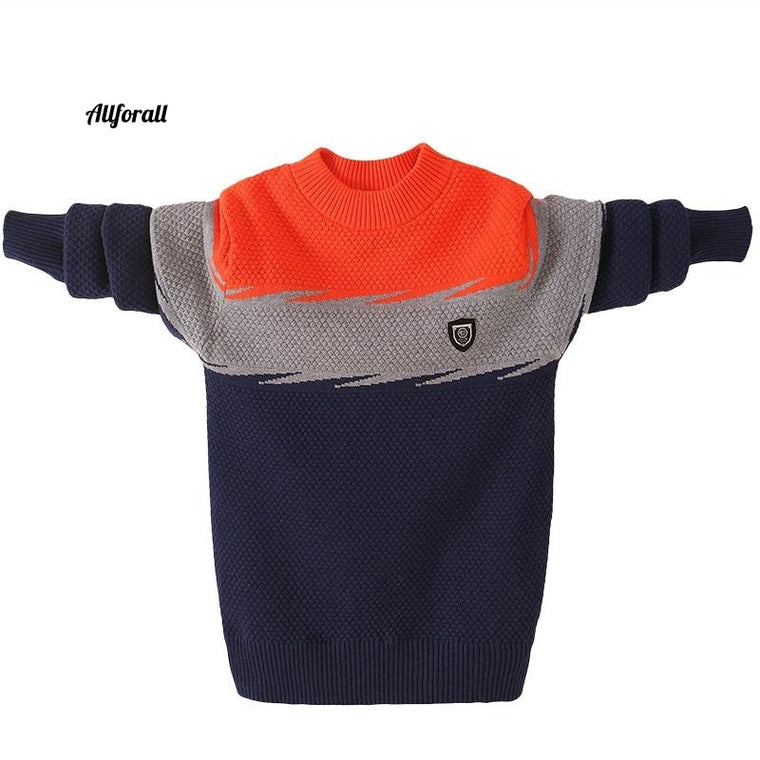 Winter Children's Sweater, Cotton Children Sweater, O-Neck Pullover winter Sweater, Keep Warm Kids Clothes