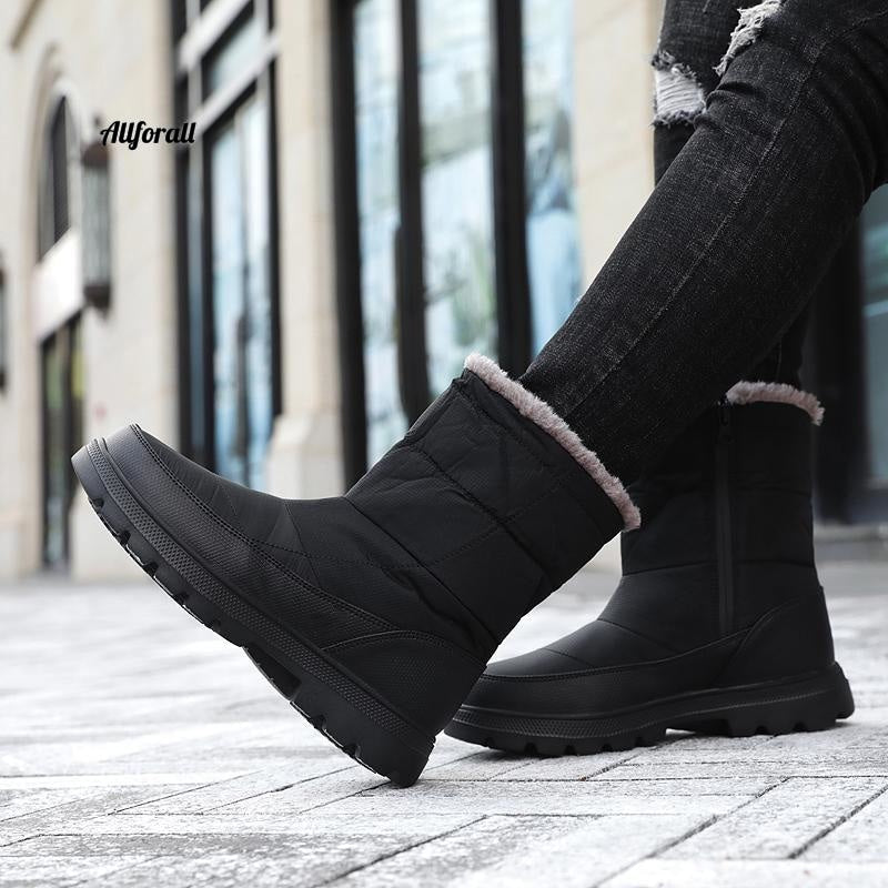 Wintermode paar snowboots, heren bont warme waterdichte schoenen, plus size 36-46 sneakers Heren winterlaars allround
