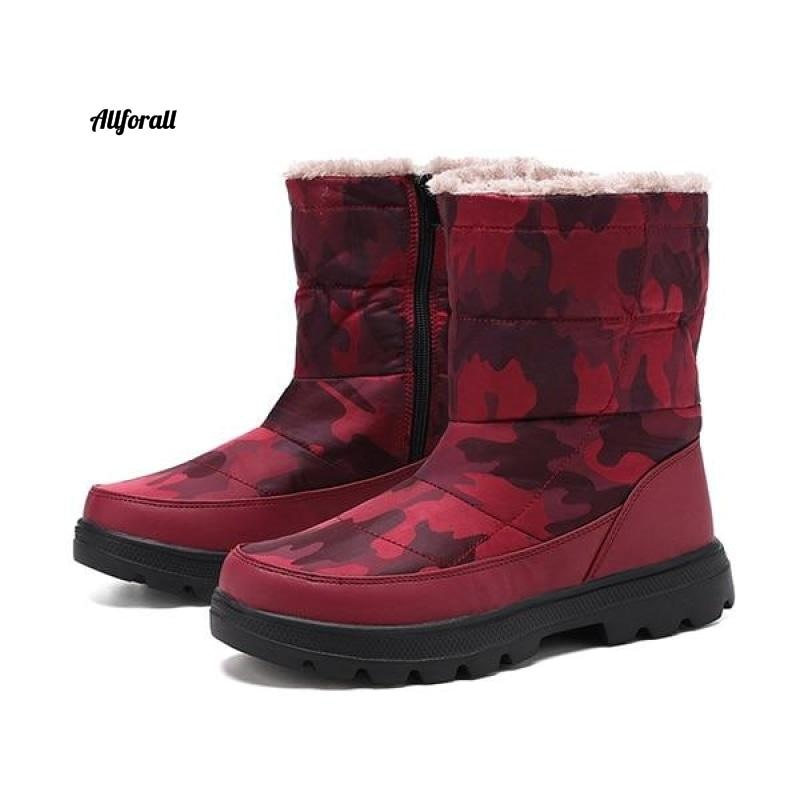 Winter mode paar snowboots, heren bont warme waterdichte schoenen, plus size 36-46 sneakers heren winterlaars allround rood 36-42 maat 40