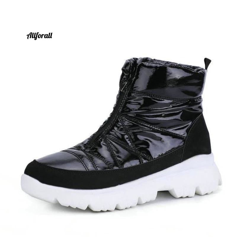 Winter Navy Snow-boot, Short Warm 50% Natural Wool, Water-resistent Upper non-slip Zip Quality Shoes kvinnor winter boot allforall A961black 36
