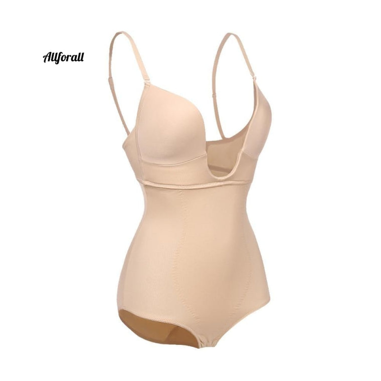 Woman Full Body Sharper, Backless Compression Bodysuit U Bra Shaping Seamless Girdle Panties Butt Lifter