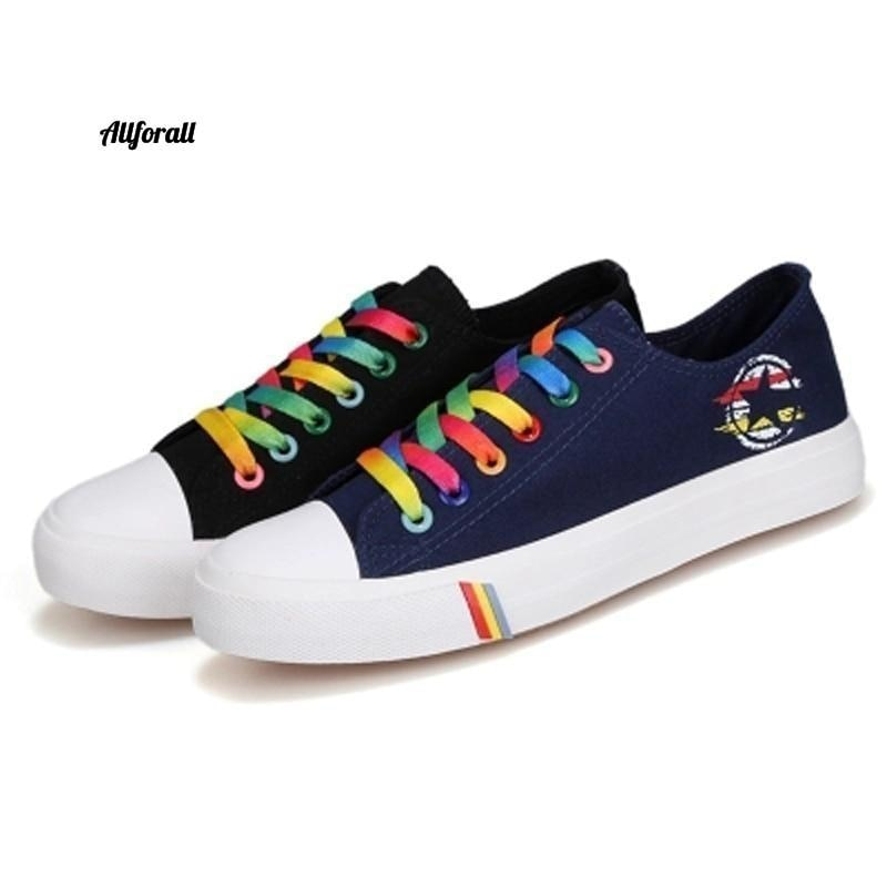 Women Casual Shoes, Spring and Summer Ladies Lace-up Canvas Shoes, Female Breathable Light Sneakers women sports shoes allforall