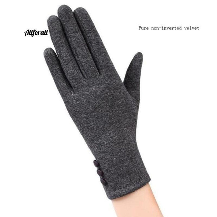 Women Touch Screen Glove, Winter Fashion Bow Ladies Lace Splice Warm Glove touchscreen glove allforall 19B Gray