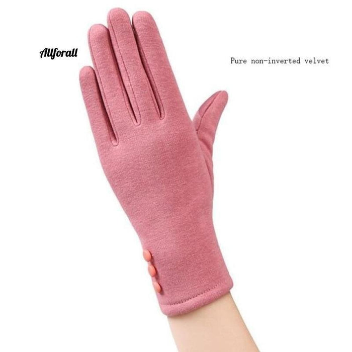 Women Touch Screen Glove, Winter Fashion Bow Ladies Lace Splice Warm Glove touchscreen glove allforall 19B Pink