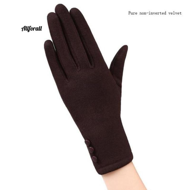 Women Touch Screen Glove, Winter Fashion Bow Ladies Lace Splice Warm Glove touchscreen glove allforall 19B Brown