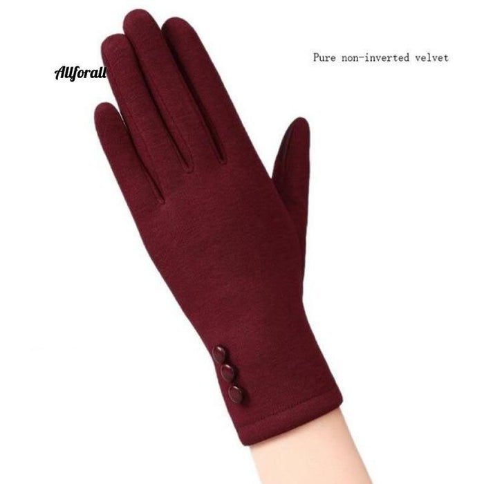 Women Touch Screen Glove, Winter Fashion Bow Ladies Lace Splice Warm Glove touchscreen glove allforall 19B Red