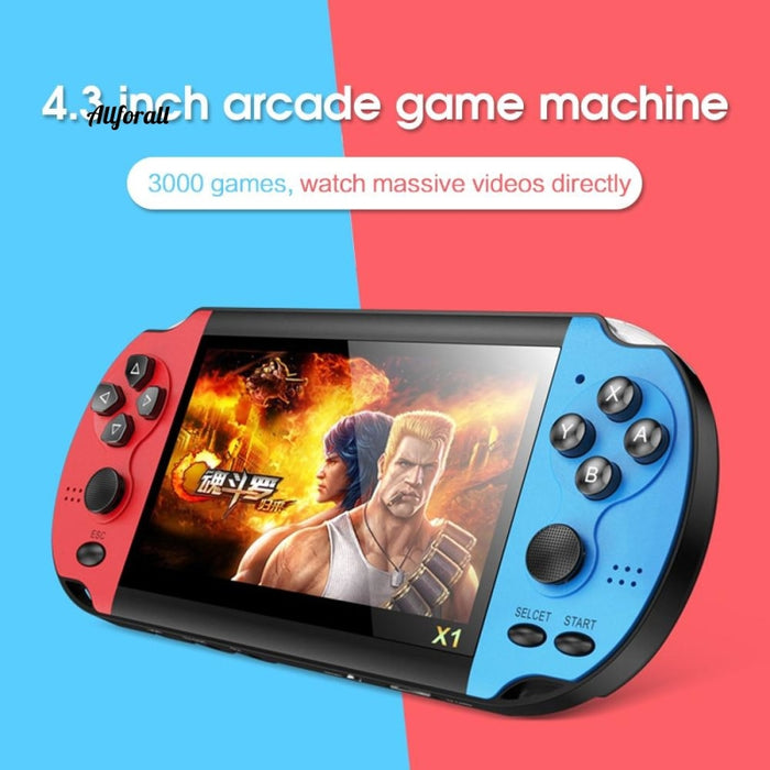 X1 4.3-inch Game Console, Nostalgic Classic Dual-Shake Game Console, 8G Built-in 10,000 Games, Super Core Handheld Game Player